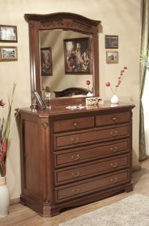 Comoda - rama oglinda lemn masiv Gino - Mobila dormitor lemn masiv Gino