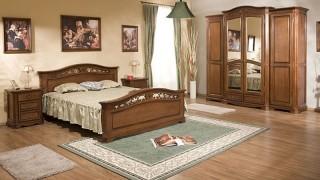 Dormitor lemn masiv Gino - Mobila dormitor Gino
