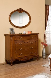 Comoda - rama oglinda lemn masiv Giulia - Mobila dormitor lemn masiv Giulia