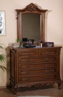 Comoda - rama oglinda lemn masiv Royal - Mobila dormitor lemn masiv Royal