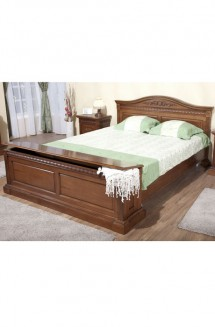Pat cu lada pentru lenjerie lemn masiv Venetia - Mobila dormitor lemn masiv Venetia