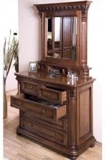 Comoda - rama oglinda lemn masiv Venetia Lux - Mobila dormitor lemn masiv Venetia Lux