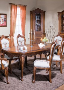 Masa extensibila lemn masiv Cleopatra - Mobila sufragerie lemn masiv Cleopatra