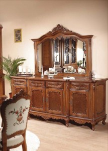 Bufet cu 4 usi lemn masiv Cleopatra - Mobila sufragerie lemn masiv Cleopatra