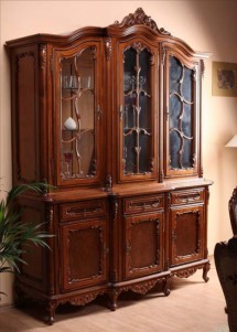 Bufet vitrina 3 usi lemn masiv Cleopatra - Mobila sufragerie lemn masiv Cleopatra