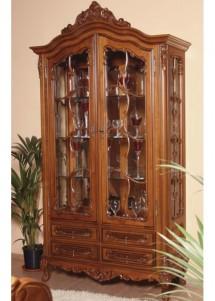 Cristalier 2 usi lemn masiv Cleopatra - Mobila sufragerie lemn masiv Cleopatra