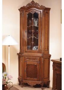 Bufet-vitrina colt lemn masiv Cleopatra - Mobila sufragerie lemn masiv Cleopatra