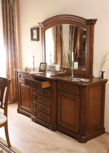 Bufet-rama oglinda lemn masiv Rafael - Mobila sufragerie lemn masiv Rafael