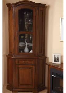 Bufet vitrina colt lemn masiv Rafael - Mobila sufragerie lemn masiv Rafael