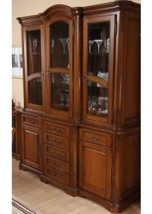 Bufet-vitrina 3 usi lemn masiv Rafael - Mobila sufragerie lemn masiv Rafael