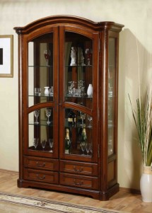 Cristalier 2 usi lemn masiv Rafael - Mobila sufragerie lemn masiv Rafael