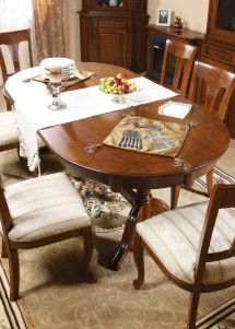 Masa extensibila lemn masiv Rafael - Mobila sufragerie lemn masiv Rafael