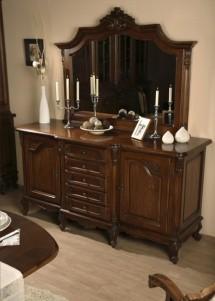 Bufet cu 2 usi, 5 sertare lemn masiv Royal - Mobila sufragerie lemn masiv Royal