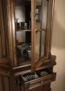 Bufet vitrina colt lemn masiv Royal - Mobila sufragerie lemn masiv Royal