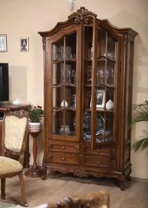 Cristalier 2 usi lemn masiv Royal - Mobila sufragerie lemn masiv Royal