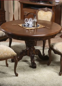 Masa rotunda extensibila lemn masiv Royal - Mobila sufragerie lemn masiv Royal