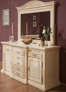 Bufet-rama oglinda lemn masiv Venetia - Mobila sufragerie lemn masiv Venetia