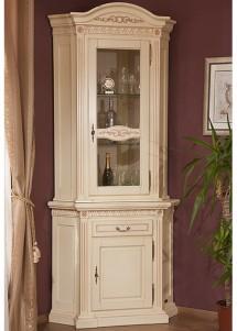 Bufet-vitrina colt lemn masiv Venetia - Mobila sufragerie lemn masiv Venetia