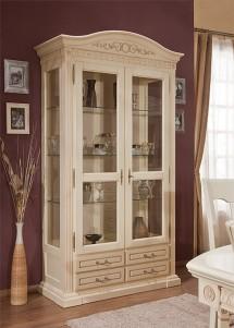 Cristalier 2 usi lemn masiv Venetia - Mobila sufragerie lemn masiv Venetia