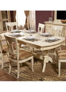 Masa extensibila lemn masiv Venetia - Mobila sufragerie lemn masiv Venetia