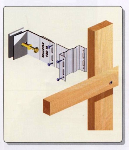 Sistem de fixare din aluminiu pentru placaje uscate exterioare - MacUNI - Sisteme de fixare GIBB