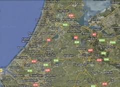 Harta Randstad, conurbatia ce cuprinde Amsterdam - Rotterdam - Haga - Utrecht si orasele adiacente acestora (Google Map). - Randstad, Olanda