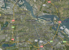 Harta Amsterdamului si a zonelor adiacente (Google Map) - Randstad, Olanda