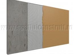 Plasa de armare se inglobeaza in masa de spaclu - Accesorii pentru montarea materialelor termoizolante