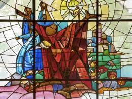 Imitatia vitraliilor, modernizata cu imprimeuri noi (foto: coolshire.com) - Autocolante pentru geamuri, cu aspect de vitraliu