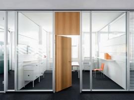 Compartimentari interioare din sticla - FecoFix - Sisteme de compartimentare birouri cu pereti si usi de sticla