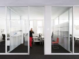 Compartimentari interioare din sticla - FecoPur - Sisteme de compartimentare birouri cu pereti si usi de sticla