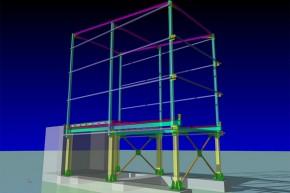Rampa de transfer deseuri Campina - Prahova - Proiectare structuri metalice