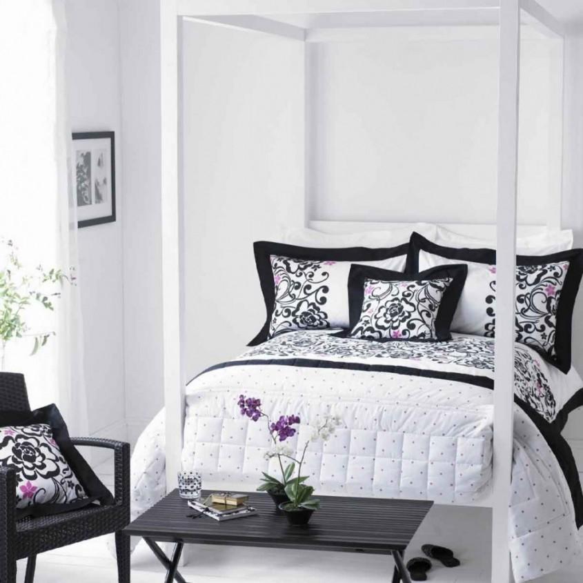 Foto kepoon com - Din bucatarie pana in dormitor si baie Combinatia alb-negru se potriveste in