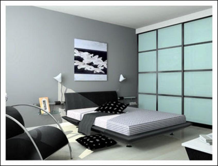 Foto serbagunamarine com - Din bucatarie pana in dormitor si baie Combinatia alb-negru se potriveste in