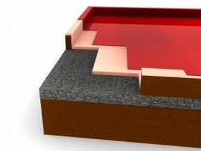 Termoizolare cu PU terasa semicirculabila, copertare membrane poliureice - Copertari poliureice