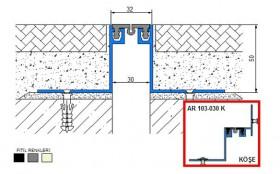 AR103-030 - Profile pentru pardoseala pentru rost de 30 mm