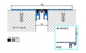 AR150-030 - Profile pentru pardoseala pentru rost de 30 mm