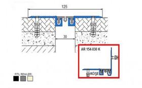 AR154-030 - Profile pentru pardoseala pentru rost de 30 mm