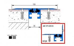 AR171-035 - Profile pentru pardoseala pentru rost de 30 mm