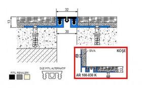 AR100-030 - Profile pentru pardoseala pentru rost de 30 mm