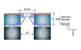 AR107-050C - Profile pentru pardoseala pentru rost de 50 mm