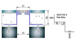 AR107-050B - Profile pentru pardoseala pentru rost de 50 mm