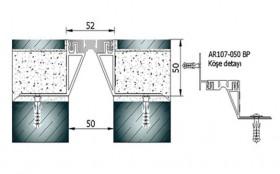 AR107-050BP - Profile pentru pardoseala pentru rost de 50 mm