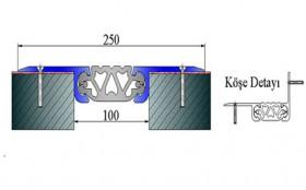 AR191-100 - Profile pentru pardoseala pentru rost de 100 mm