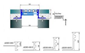 AR303-100 - Profile pentru pardoseala pentru rost de 100 mm