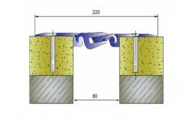 AR763-080 - Profile pentru pardoseala pentru rost de 80 mm
