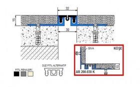 AR200-030 - Profile pentru pereti si tavane pentru rost de 30 mm