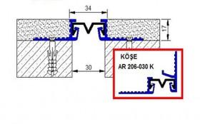 AR206-030 - Profile pentru pereti si tavane pentru rost de 30 mm