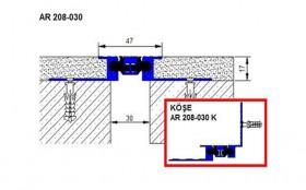 AR208-030 - Profile pentru pereti si tavane pentru rost de 30 mm
