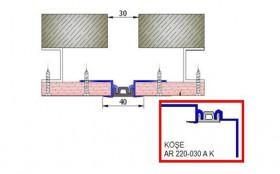 AR220-030A - Profile pentru pereti si tavane pentru rost de 30 mm